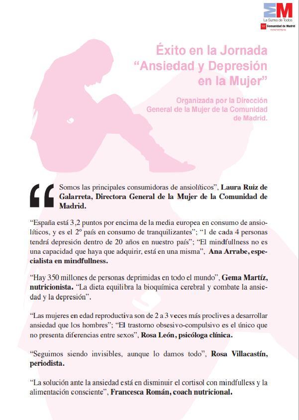 Centrum en la Jornada sobre Ansiedad y Depresión en la Mujer