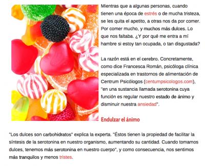 por qué comemos dulces cuando tenemos ansiedad