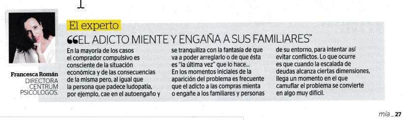 Centrum Psicólogos en Revista Mía